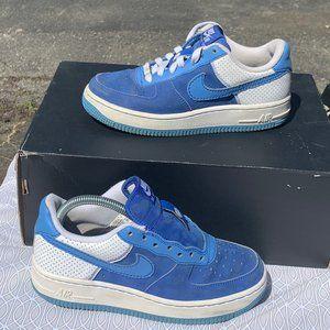 Nike Air force one af1 low suede blue diamond 5.5y